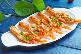#ACA烘焙明星大赛#蒜蓉烤虾的做法步骤:7